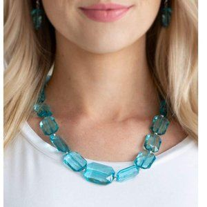 Ice Versa Blue Necklace